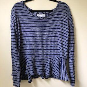 Free People cozy sweater tee